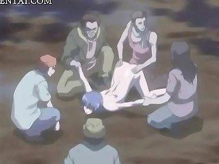 Anime Babe Gangbanged And Bukkaked Outdoor